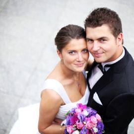 Happy wedded couple